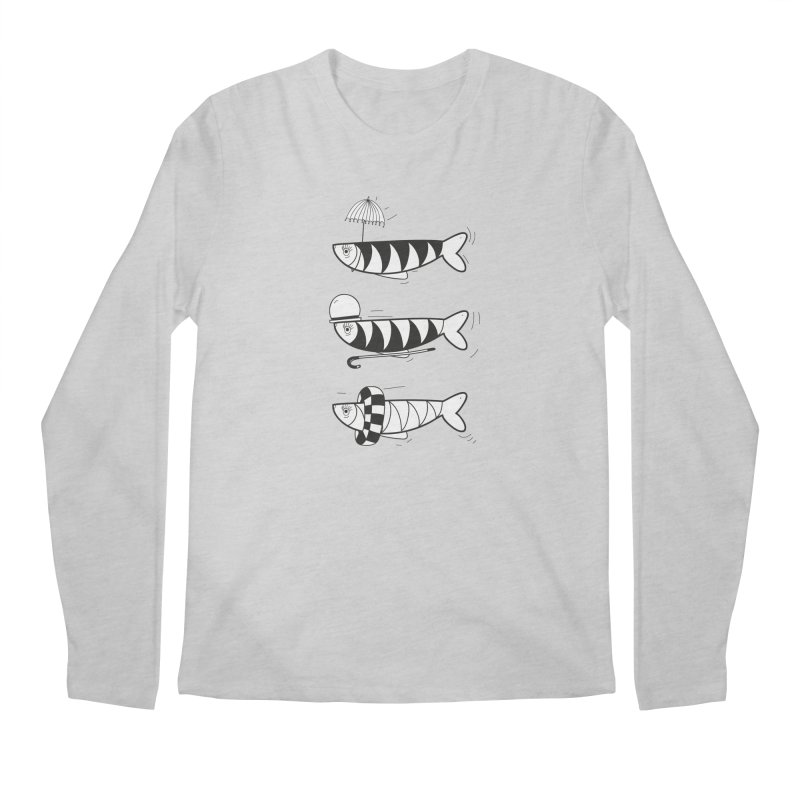 Fishes Men's Regular Longsleeve T-Shirt by coclodesign's Artist Shop