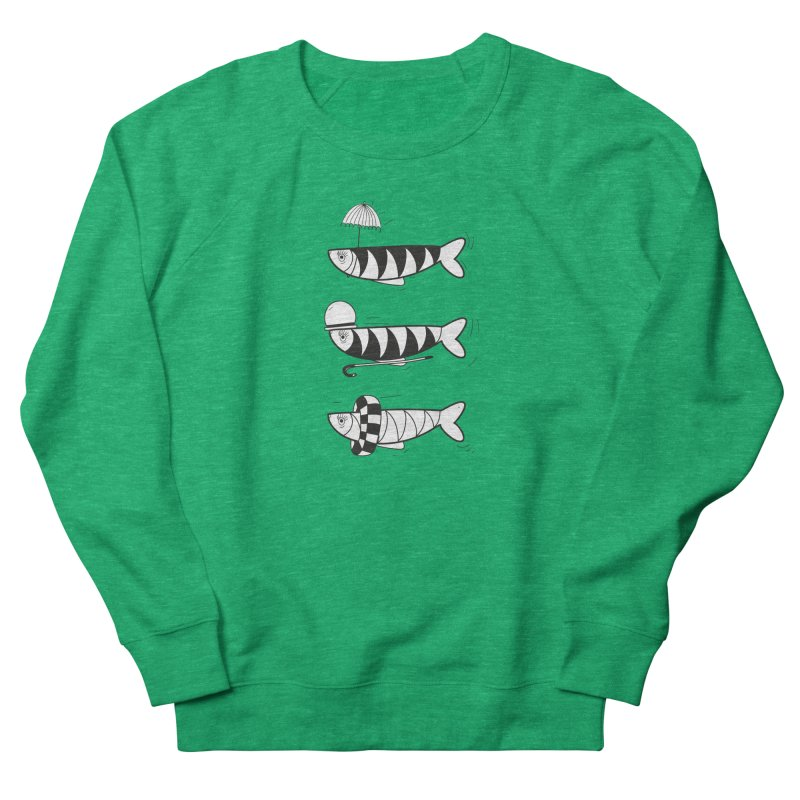 Fishes Women's French Terry Sweatshirt by coclodesign's Artist Shop