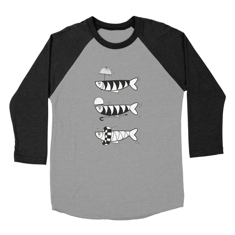 Fishes Women's Baseball Triblend T-Shirt by coclodesign's Artist Shop