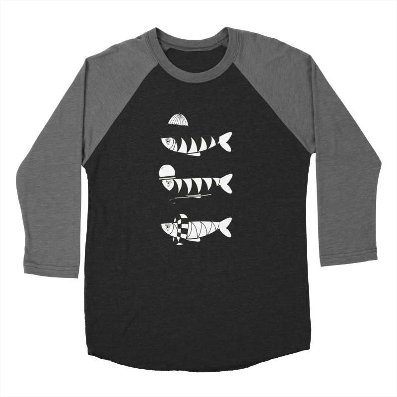 Fishes Men's Baseball Triblend T-Shirt by coclodesign's Artist Shop