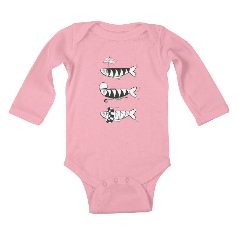 Fishes Kids Baby Longsleeve Bodysuit by coclodesign's Artist Shop