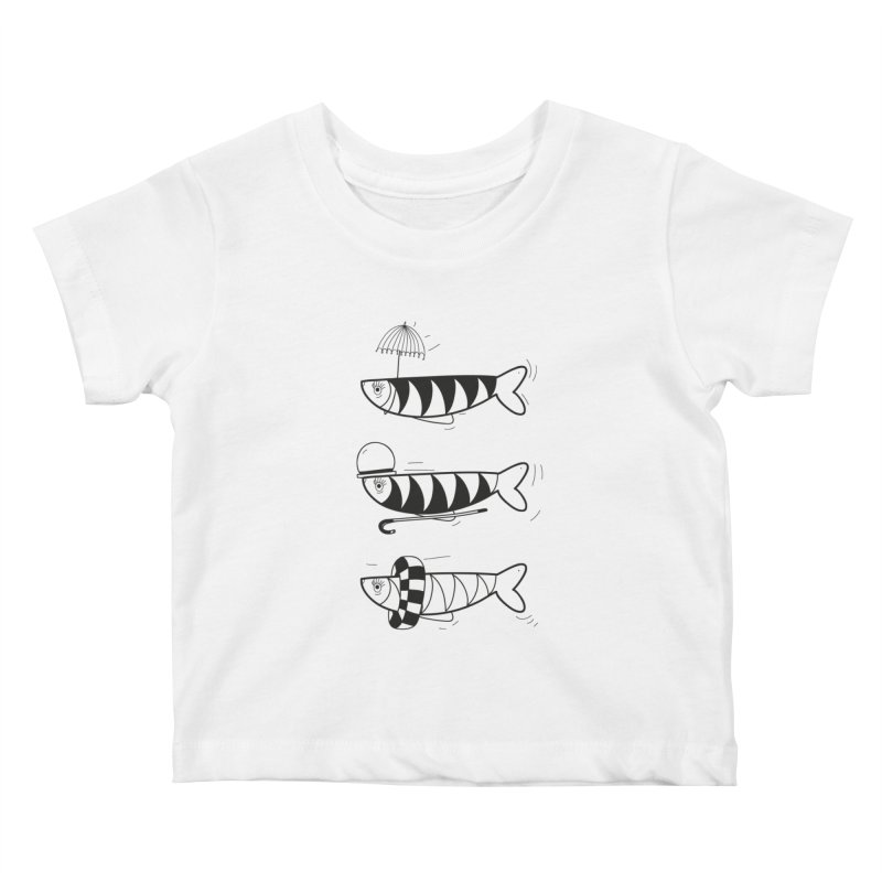 Fishes Kids Baby T-Shirt by coclodesign's Artist Shop
