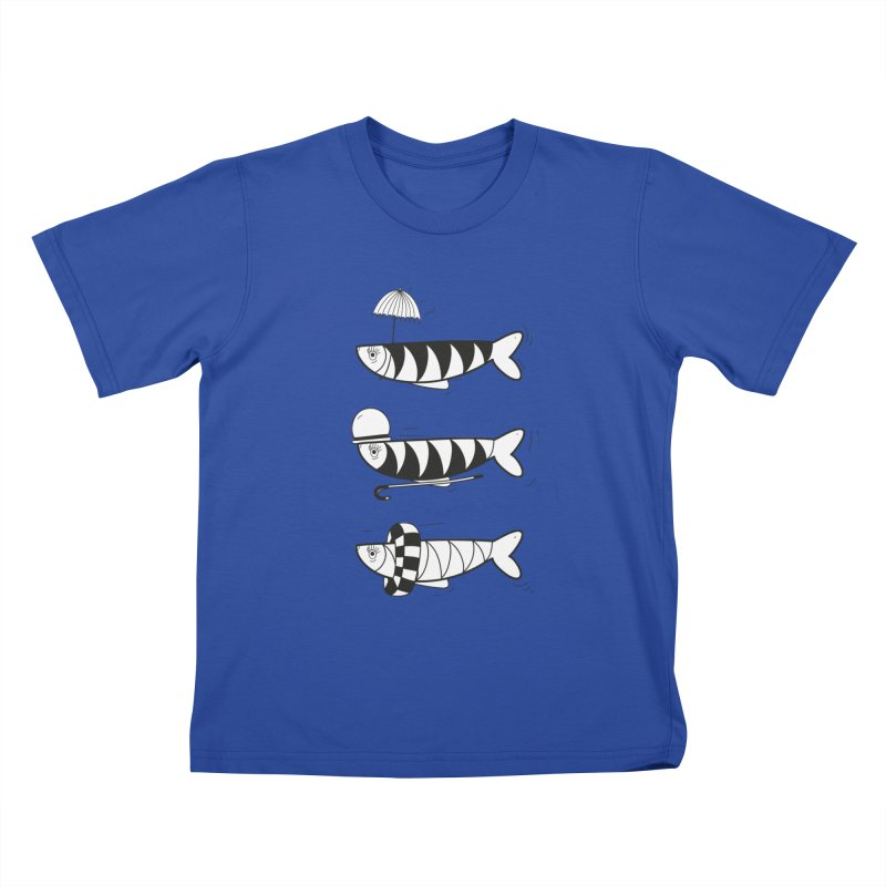 Fishes Kids T-shirt by coclodesign's Artist Shop