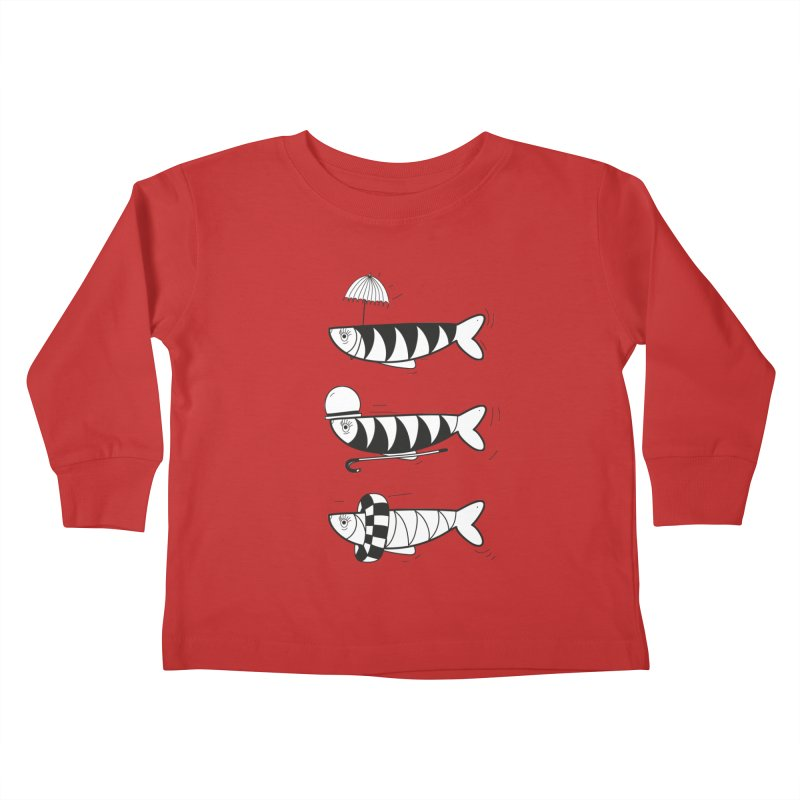 Fishes Kids Toddler Longsleeve T-Shirt by coclodesign's Artist Shop