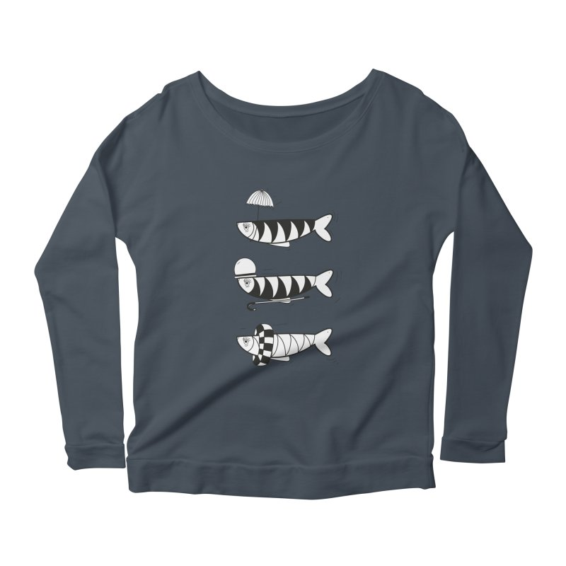 Fishes Women's Scoop Neck Longsleeve T-Shirt by coclodesign's Artist Shop