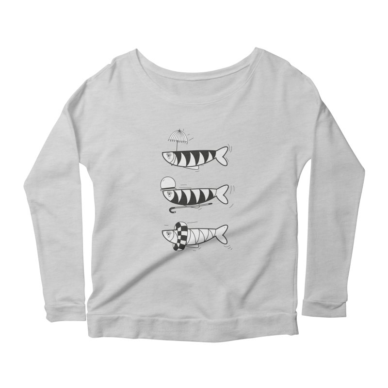 Fishes Women's Longsleeve Scoopneck  by coclodesign's Artist Shop