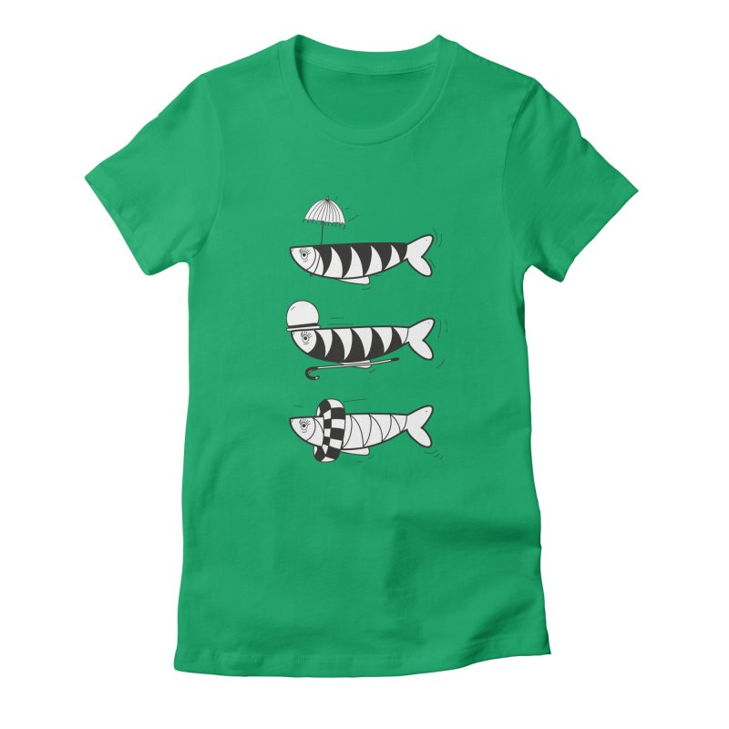 Fishes Women's Fitted T-Shirt by coclodesign's Artist Shop