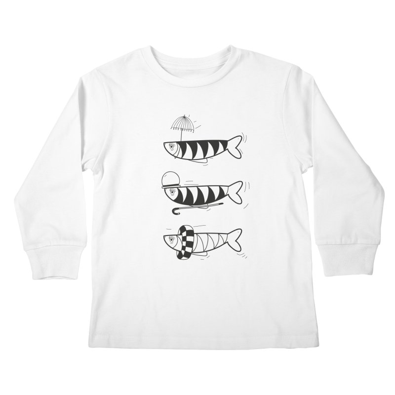 Fishes Kids Longsleeve T-Shirt by coclodesign's Artist Shop
