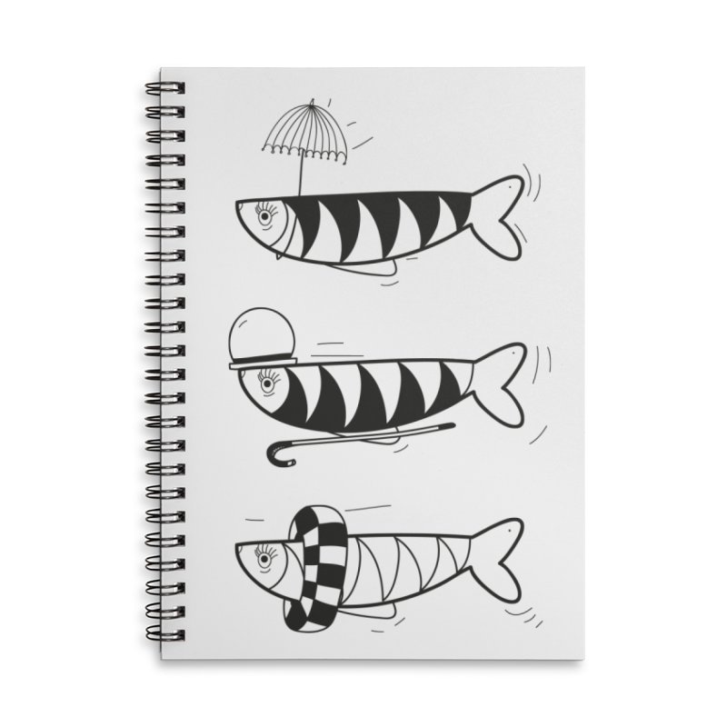 Fishes Accessories Lined Spiral Notebook by coclodesign's Artist Shop