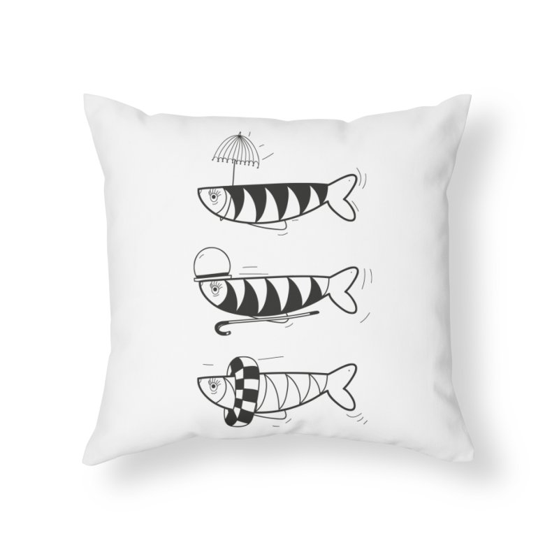 Fishes Home Throw Pillow by coclodesign's Artist Shop