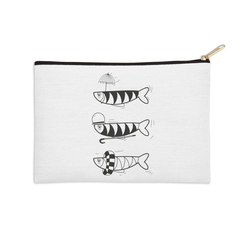 Fishes Accessories Zip Pouch by coclodesign's Artist Shop