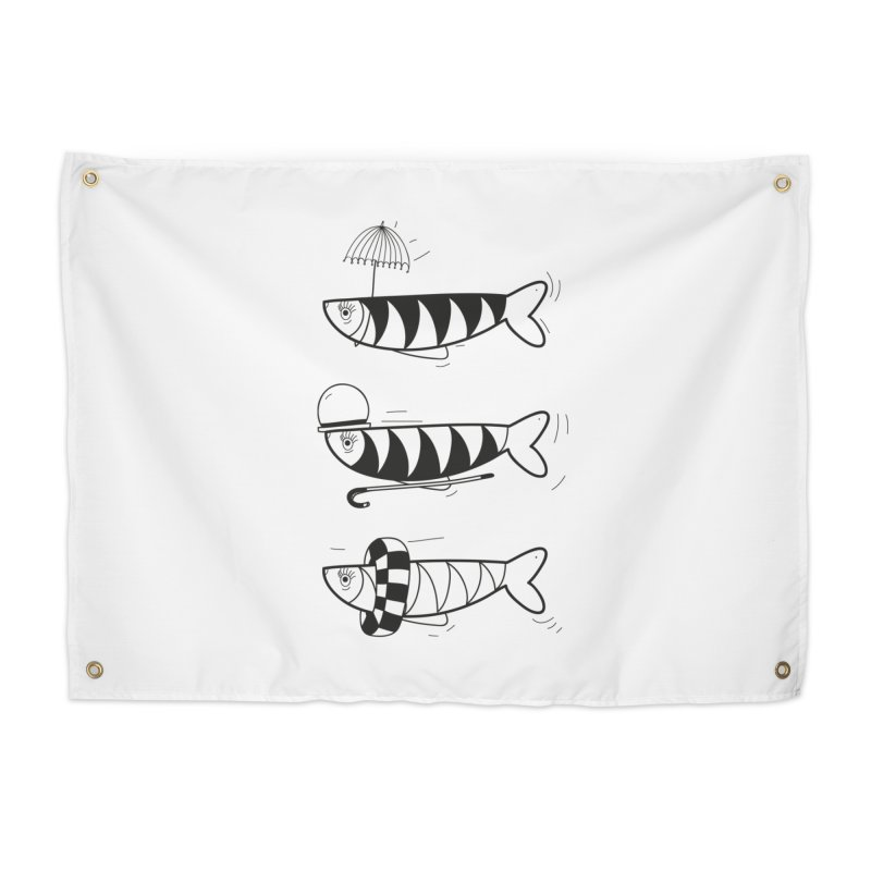 Fishes Home Tapestry by coclodesign's Artist Shop