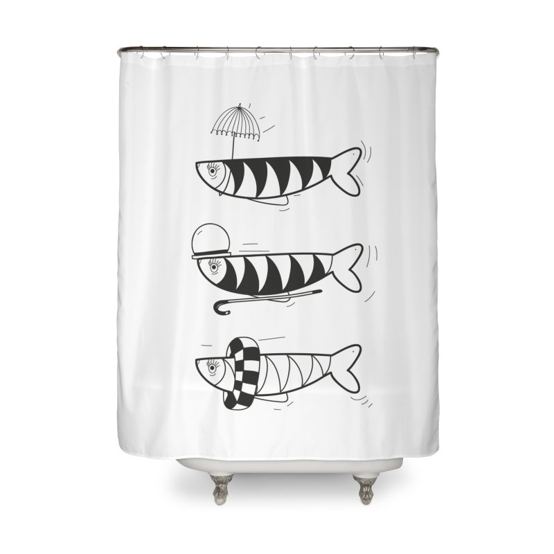Fishes Home Shower Curtain by coclodesign's Artist Shop