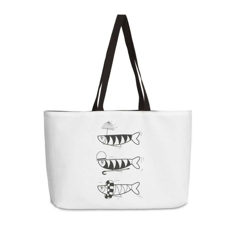 Fishes Accessories Weekender Bag Bag by coclodesign's Artist Shop