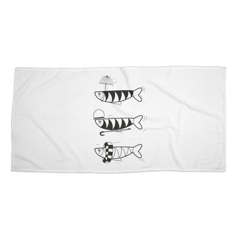 Fishes Accessories Beach Towel by coclodesign's Artist Shop