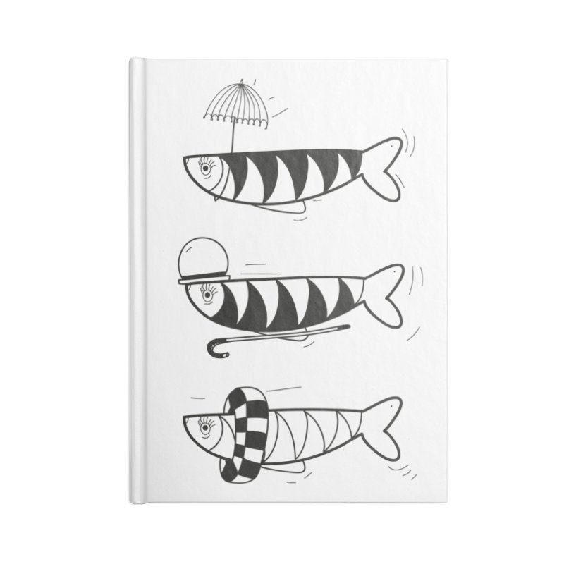 Fishes Accessories Lined Journal Notebook by coclodesign's Artist Shop