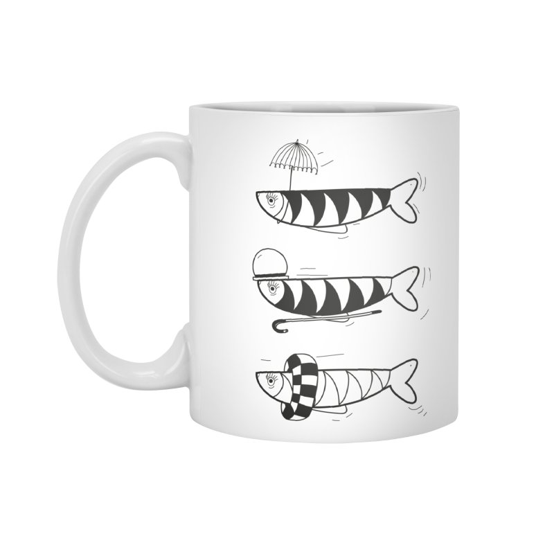 Fishes Accessories Standard Mug by coclodesign's Artist Shop