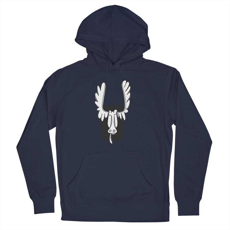 Moose Men's French Terry Pullover Hoody by coclodesign's Artist Shop