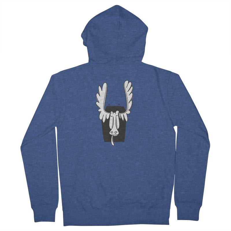 Moose Women's Zip-Up Hoody by coclodesign's Artist Shop