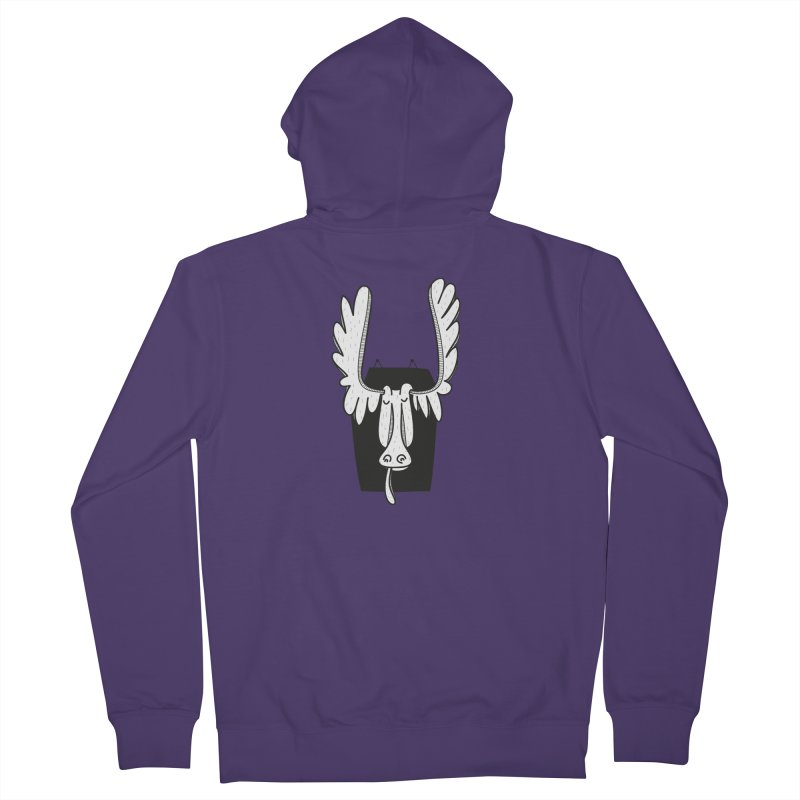 Moose Women's French Terry Zip-Up Hoody by coclodesign's Artist Shop