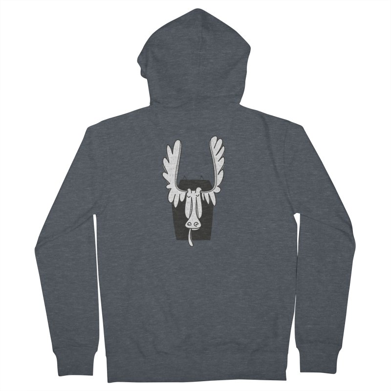 Moose Men's French Terry Zip-Up Hoody by coclodesign's Artist Shop