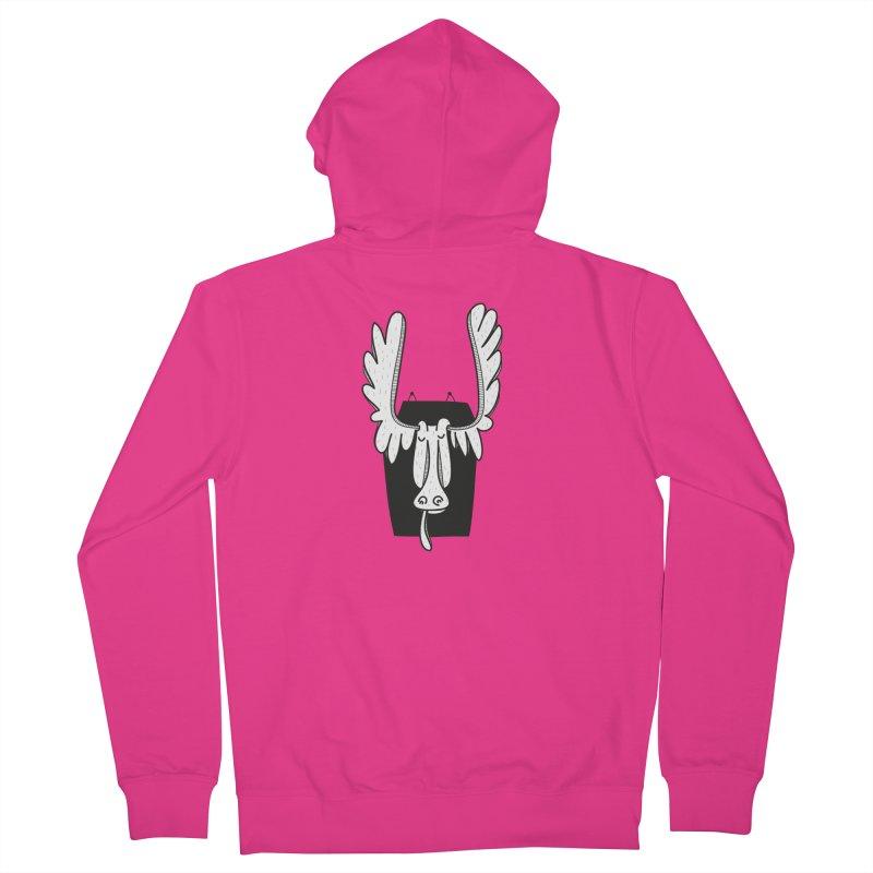 Moose Men's Zip-Up Hoody by coclodesign's Artist Shop