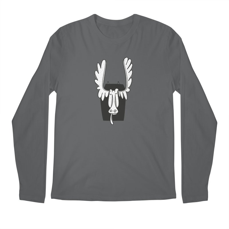 Moose Men's Longsleeve T-Shirt by coclodesign's Artist Shop