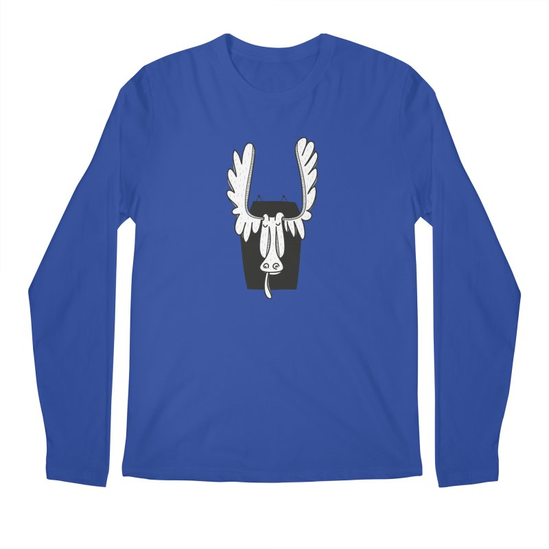 Moose Men's Regular Longsleeve T-Shirt by coclodesign's Artist Shop