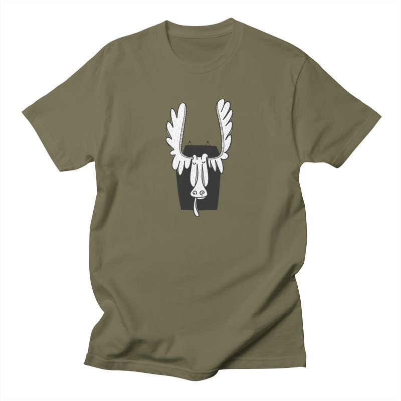 Moose Men's Regular T-Shirt by coclodesign's Artist Shop