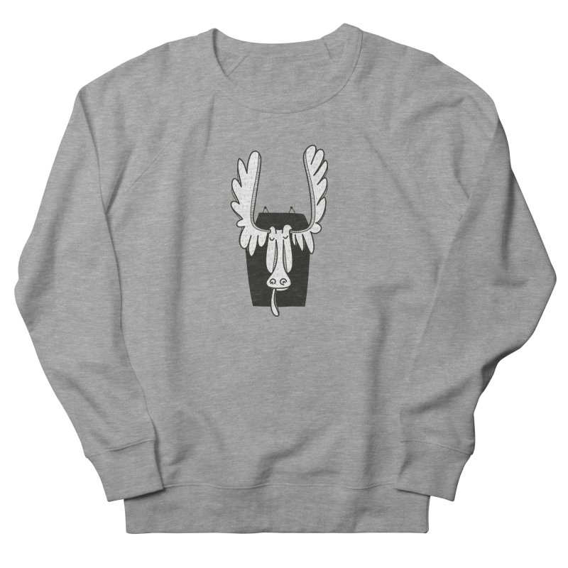 Moose Women's French Terry Sweatshirt by coclodesign's Artist Shop