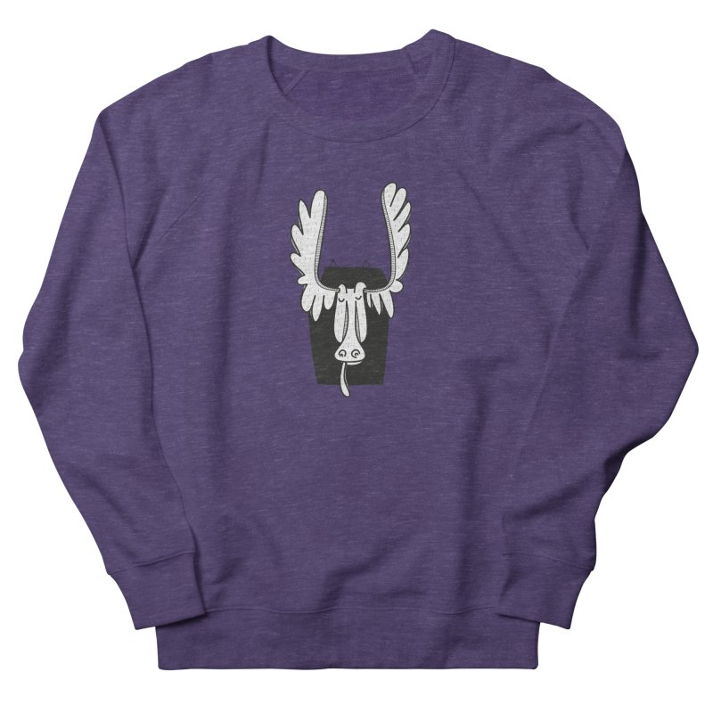 Moose Men's French Terry Sweatshirt by coclodesign's Artist Shop