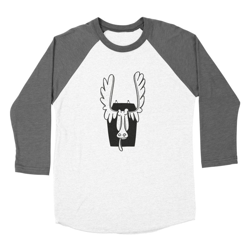 Moose Women's Baseball Triblend T-Shirt by coclodesign's Artist Shop
