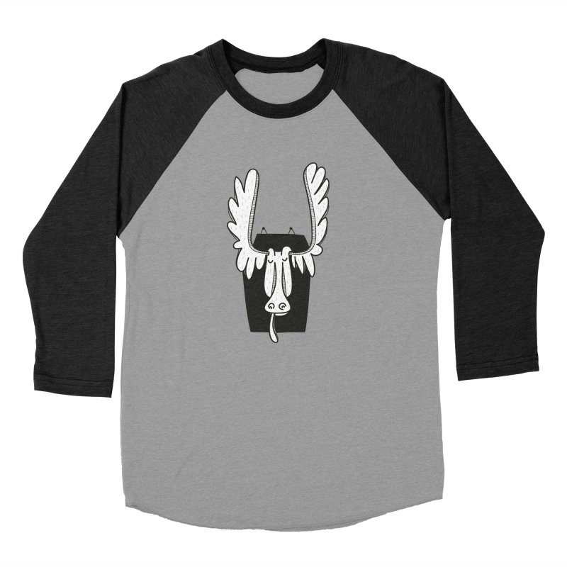 Moose Women's Baseball Triblend Longsleeve T-Shirt by coclodesign's Artist Shop