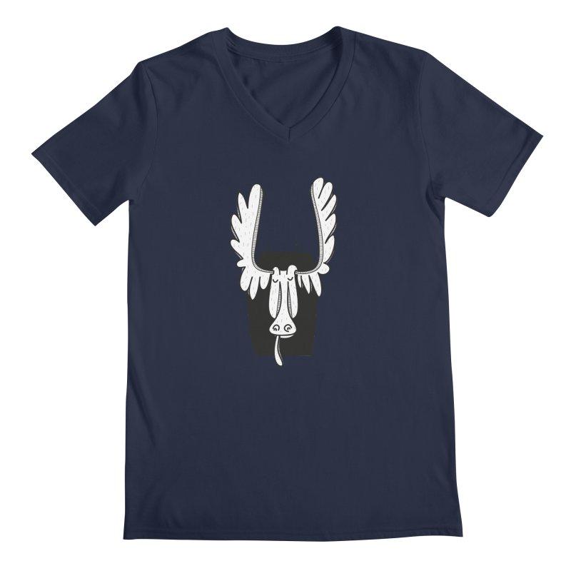 Moose Men's V-Neck by coclodesign's Artist Shop