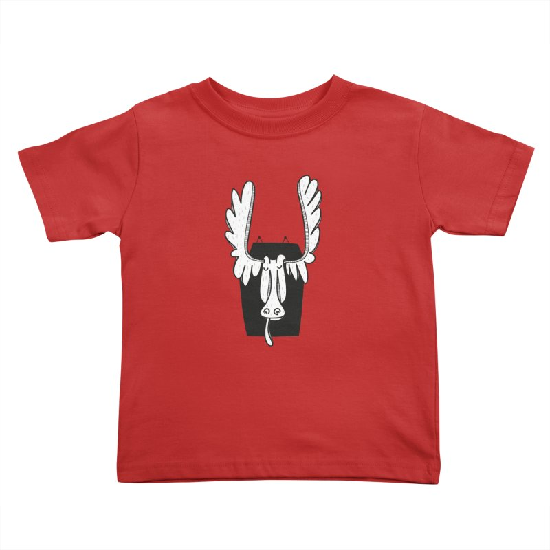 Moose Kids Toddler T-Shirt by coclodesign's Artist Shop
