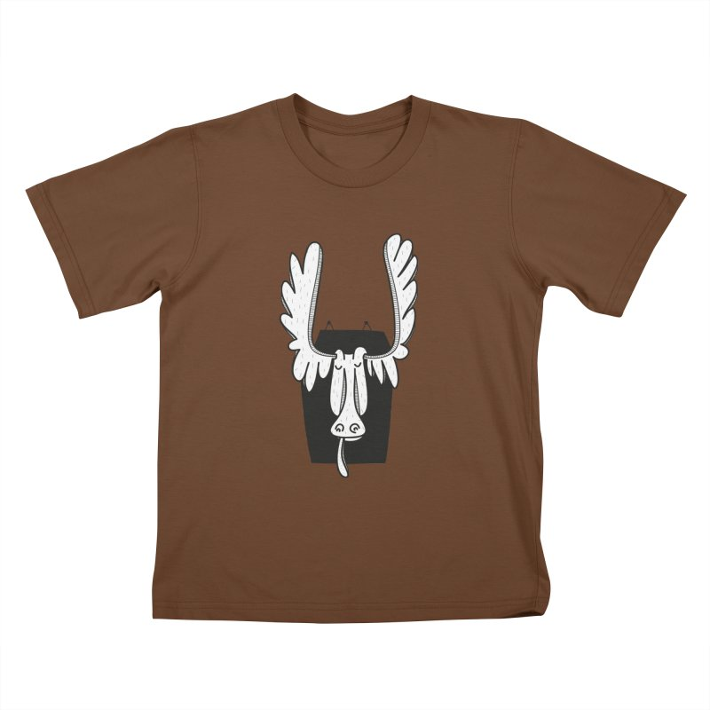 Moose Kids T-Shirt by coclodesign's Artist Shop
