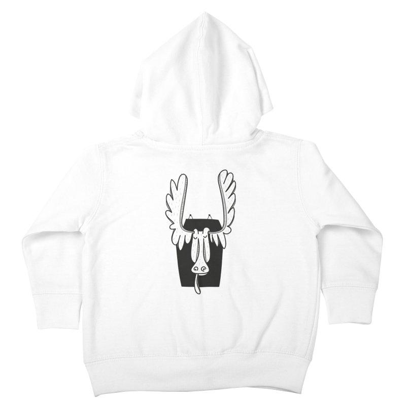 Moose Kids Toddler Zip-Up Hoody by coclodesign's Artist Shop