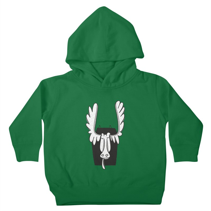 Moose Kids Toddler Pullover Hoody by coclodesign's Artist Shop