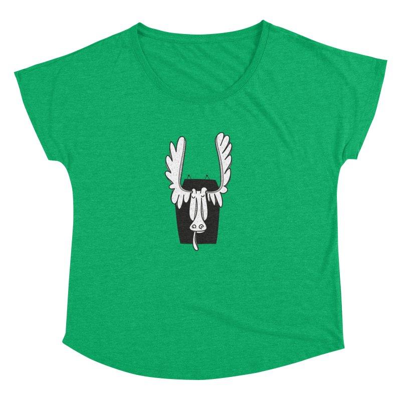 Moose Women's Dolman Scoop Neck by coclodesign's Artist Shop