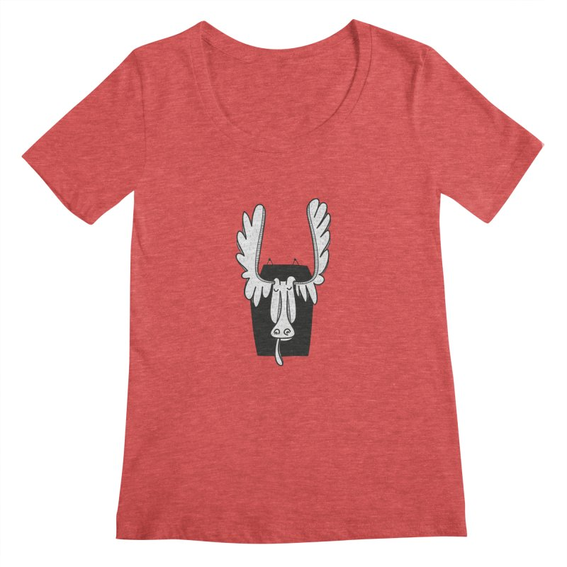 Moose Women's Scoopneck by coclodesign's Artist Shop