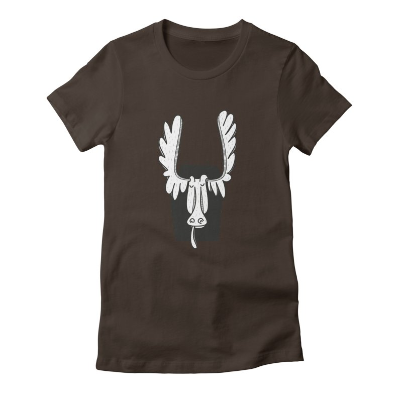 Moose Women's Fitted T-Shirt by coclodesign's Artist Shop