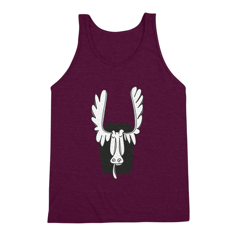 Moose Men's Triblend Tank by coclodesign's Artist Shop