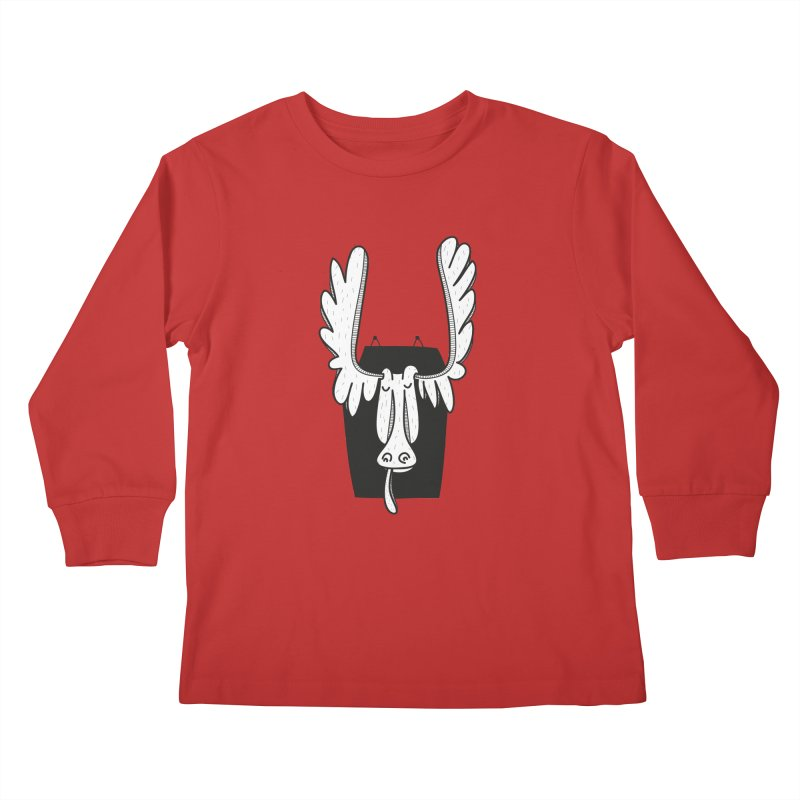 Moose Kids Longsleeve T-Shirt by coclodesign's Artist Shop