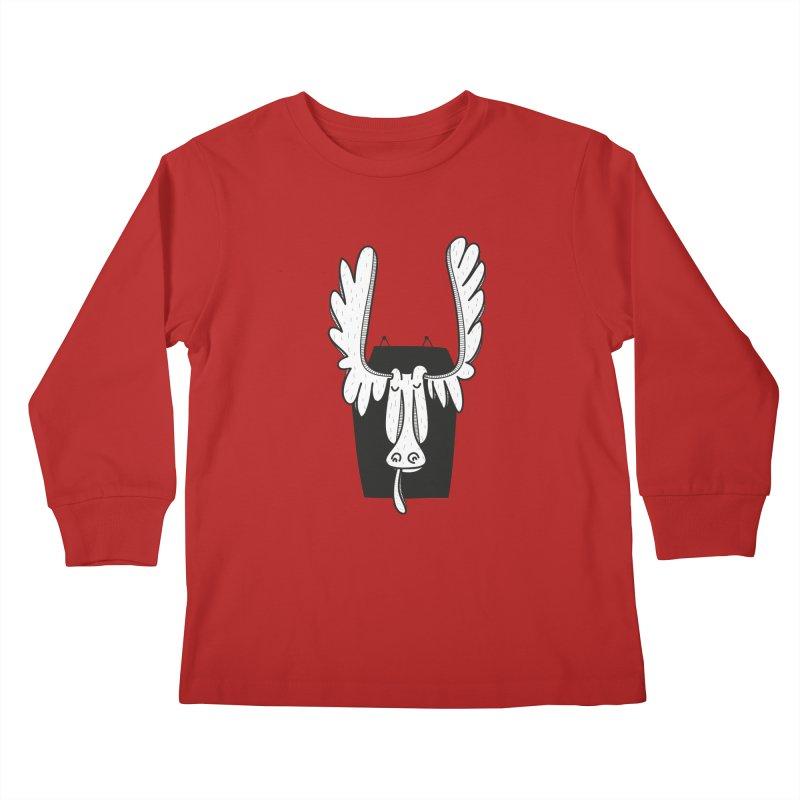 Moose Kids Longsleeve T-Shirt by coclodesign's Artist Shop