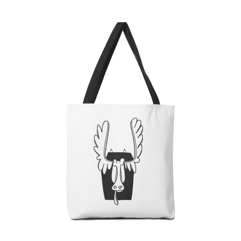 Moose Accessories Tote Bag Bag by coclodesign's Artist Shop
