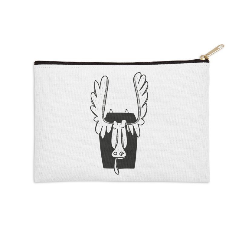 Moose Accessories Zip Pouch by coclodesign's Artist Shop