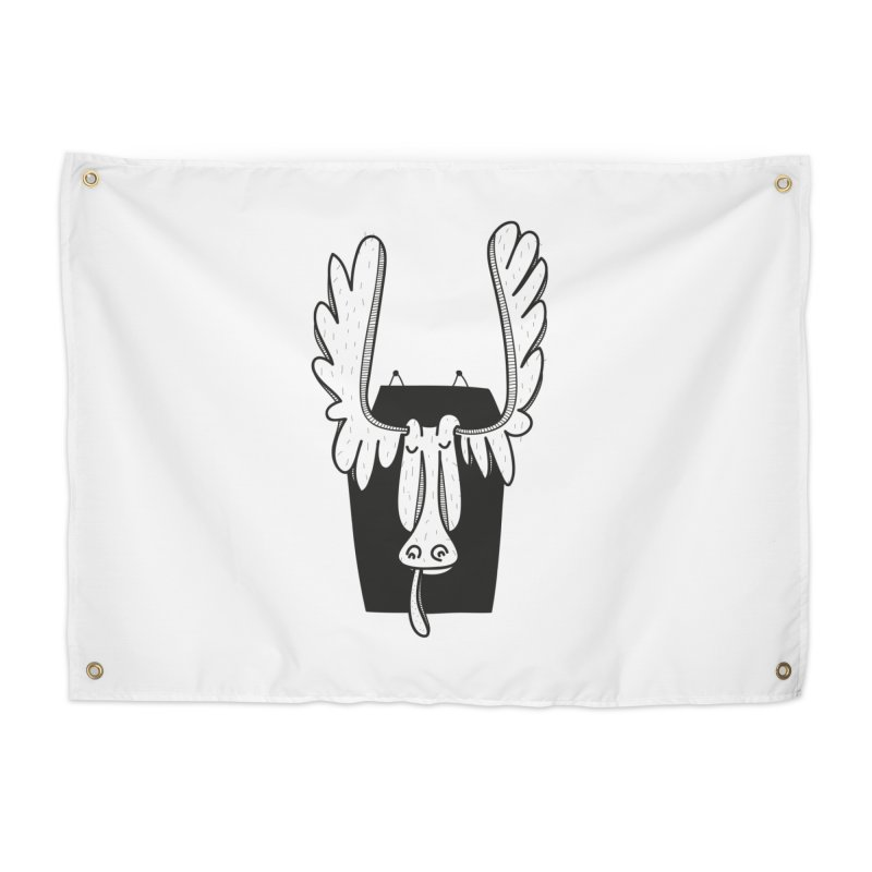 Moose Home Tapestry by coclodesign's Artist Shop