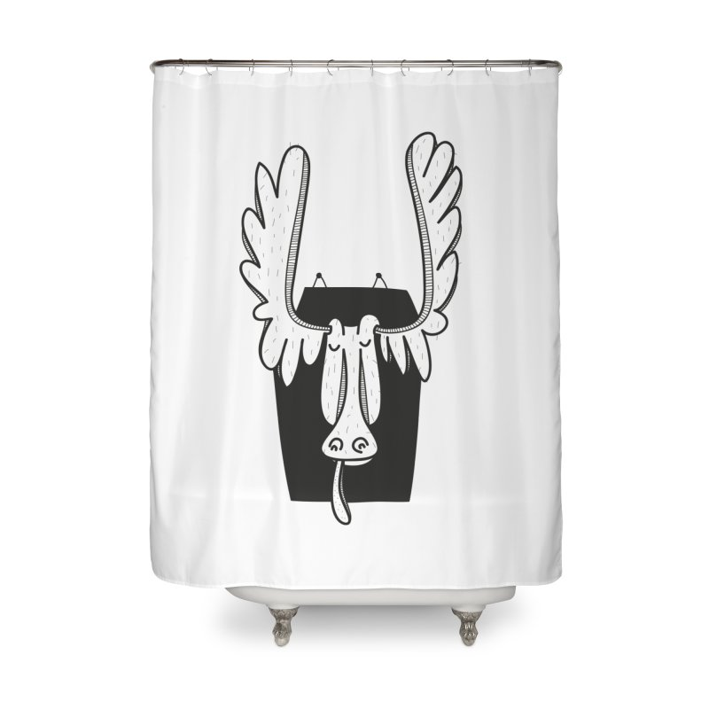 Moose Home Shower Curtain by coclodesign's Artist Shop