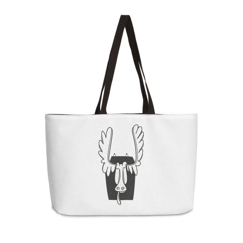 Moose Accessories Weekender Bag Bag by coclodesign's Artist Shop