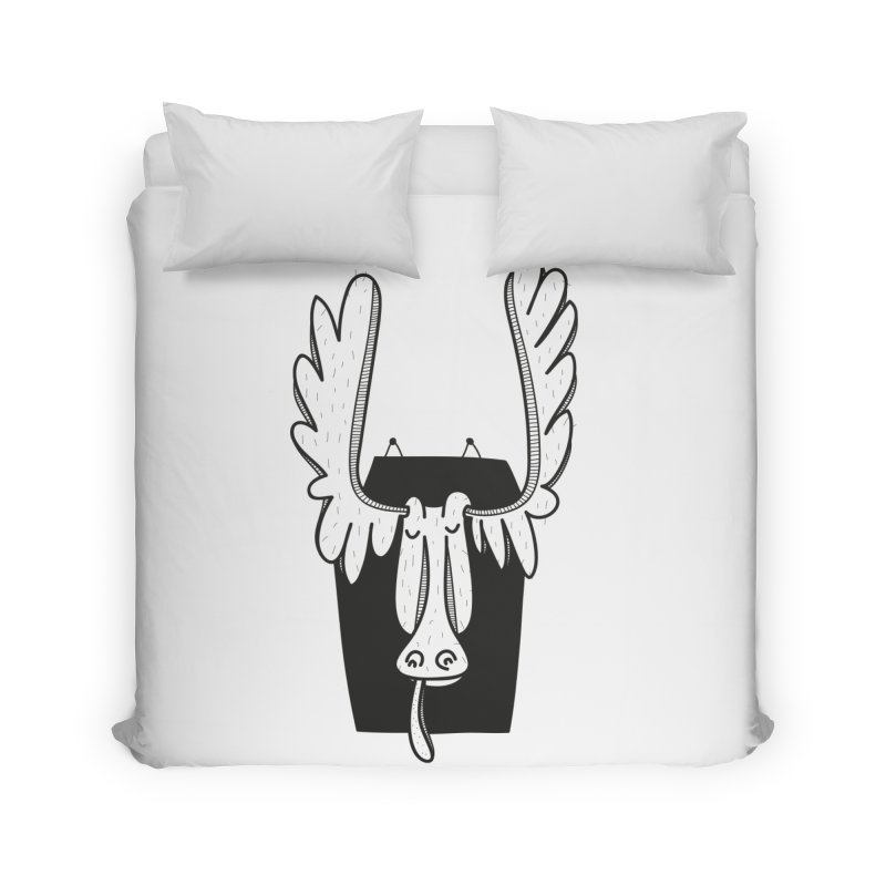 Moose Home Duvet by coclodesign's Artist Shop